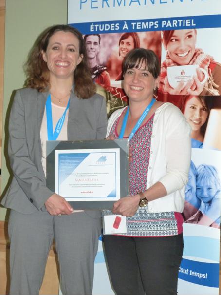 Mme Samira ElAtia (Campus Saint-Jean / University of Alberta) accompagnée de Mme Isabelle Thibault, secrétaire-trésorière du REFAD.