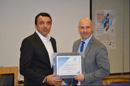 M. Thierry Karsenti (Université de Montréal) accompagné de M. Dany Benoit, président du REFAD.